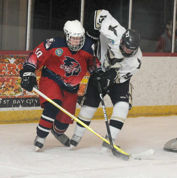Icehawks fight past the chiefs 9 4 for Motor city ice hawks